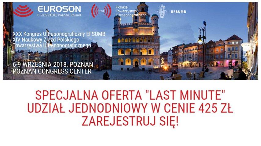 EUROSON Poznań 2018. Specjalna oferta LAST MINUTE - udział jednodniowy wcenie 425zł