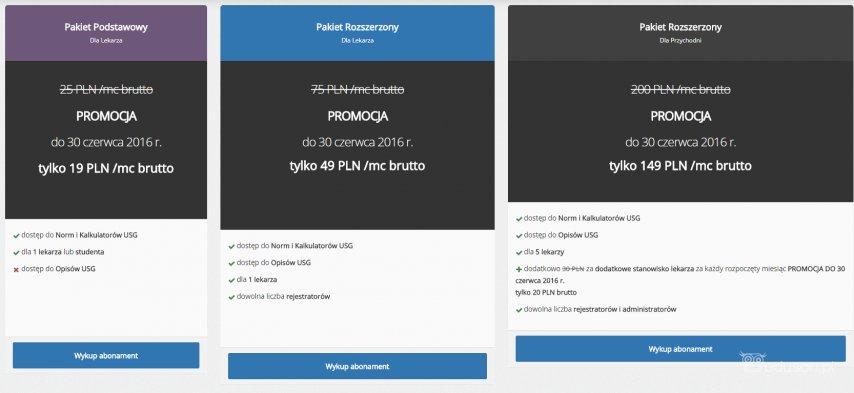 Promocja - aplikacje dla ultrasonografistów