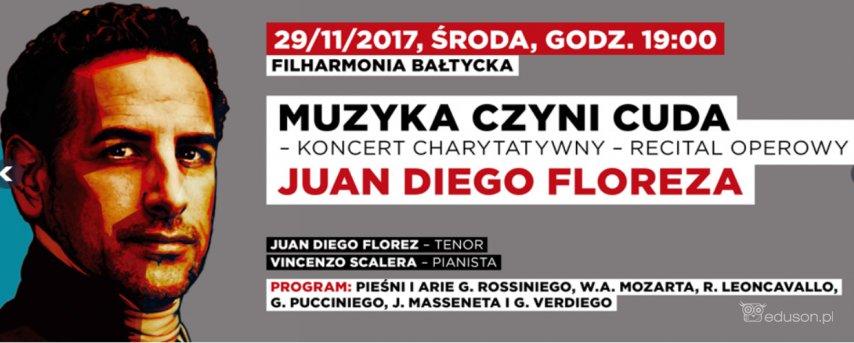 29.11.2017 Filharmonia Bałtycka wGdańsku, koncert charytatywny tenora operowego Juan Diego Florenza