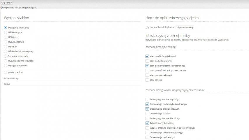 Eduson - Opisy USG - szablony opisów