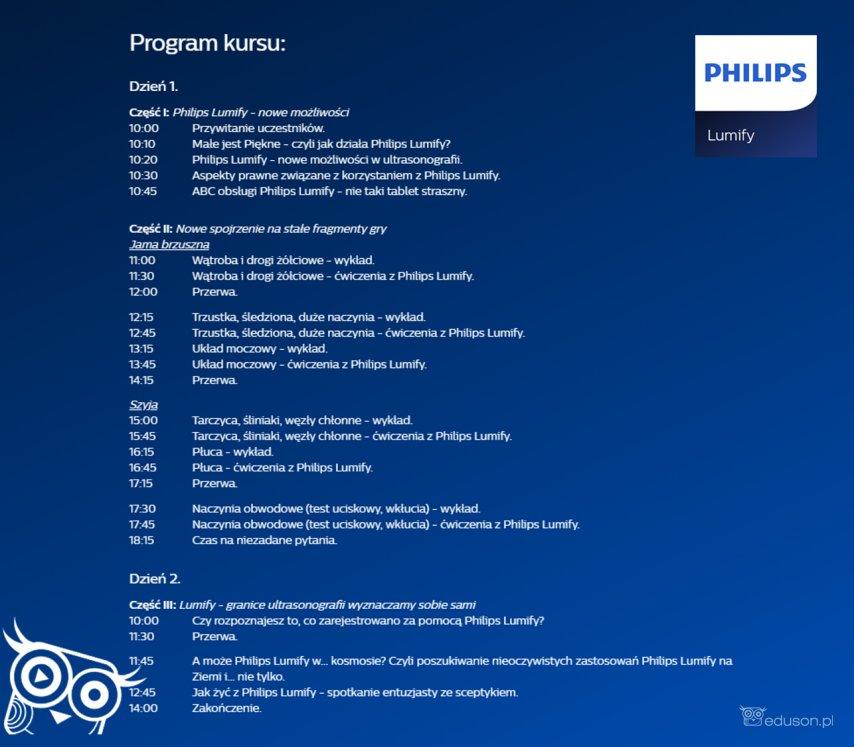 Program kursu ultrasonografii PHILIPS LUMIFY, 23-24 listopada wWarszawie