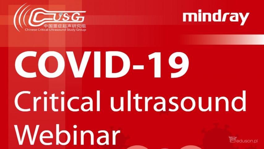 Zapraszamy na webinar o wykorzystaniu ultrasonografii u pacjentów z COVID-19 - Portal wymiany wiedzy o ultrasonografii - Eduson