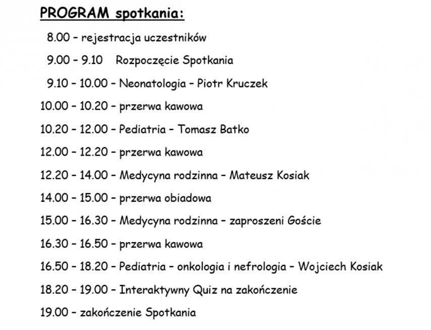 Grudziądzkie Spotkanie zUltrasonografią: program