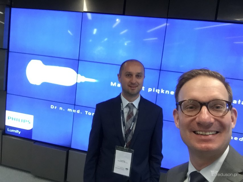 Tomasz Batko, Mateusz Kosiak, praktyczne szkolenie USG Philips Lumify