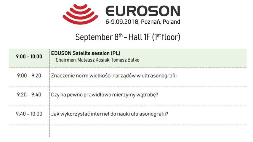EUROSON Poznań 2018. September 8th. Eduson Satelite session (PL)