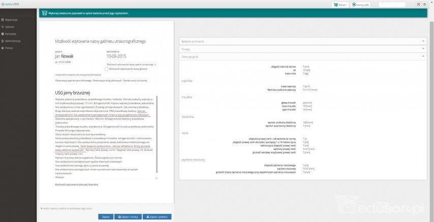 Koncowy-szablon-opisu-badania,-uwzgledniajacy-okreslone-dane-kliniczne-stan-po-cholecystektomii-i-nefrektomii.-Na-tym-etapie-mozna-wprowadzić-ostateczne-poprawki-opisu