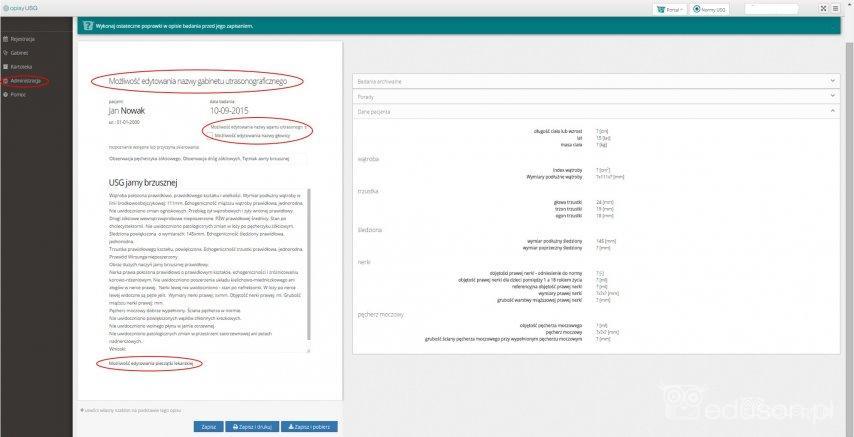 W-panelu-administracyjnym-programu-istnieje-mozliwosc-edycji-naglowka-wyniku-,-nazwy-aparatu-usg-i-pieczatki-lekarskiej.